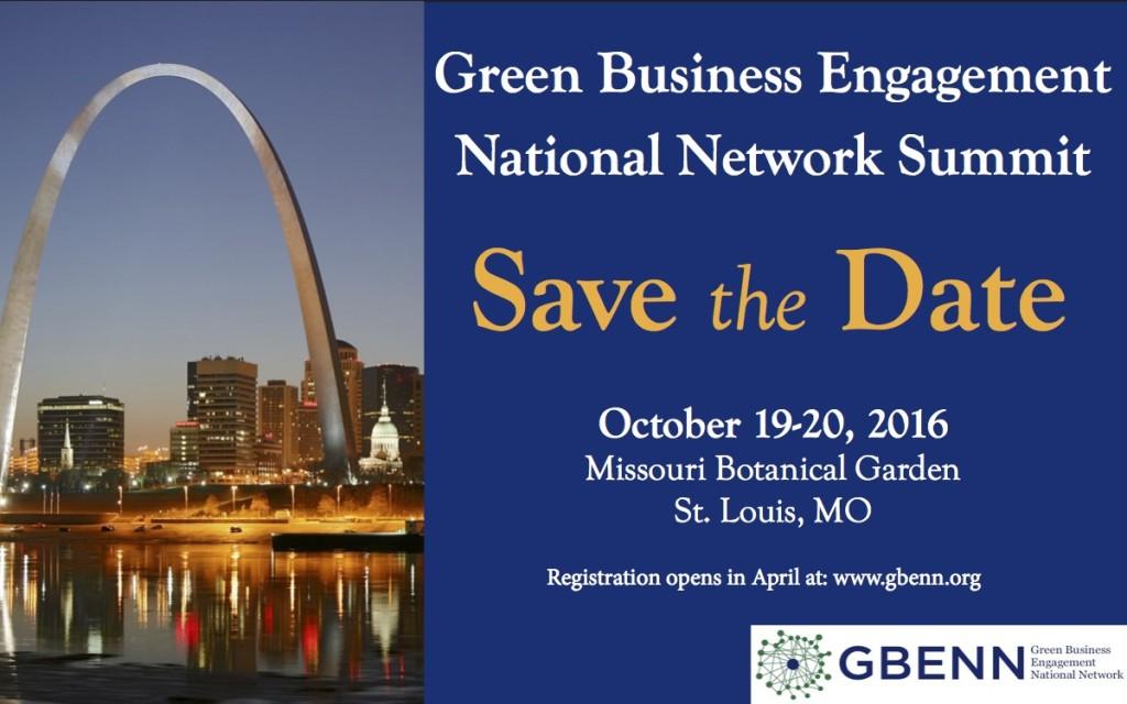 Save the Date - GBENN Summit 2016